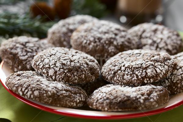 Chocolate Crinkle Cookies Stock photo © ildi