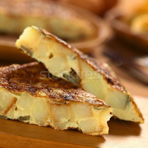 Spanish Tortilla Omelette Slices  Stock photo © ildi