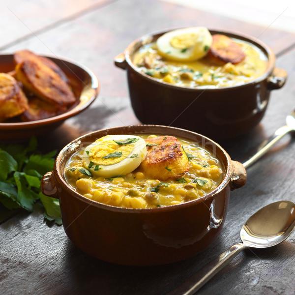 スープ 伝統的に イースター 準備 多くの 異なる ストックフォト © ildi