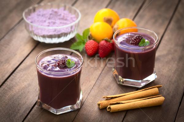 Ecuadorian Drink Called Colada Morada Stock photo © ildi