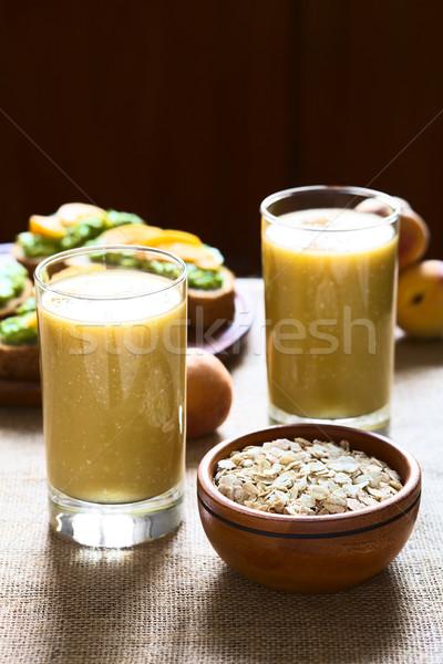 Mango-Oatmeal Milkshake Stock photo © ildi