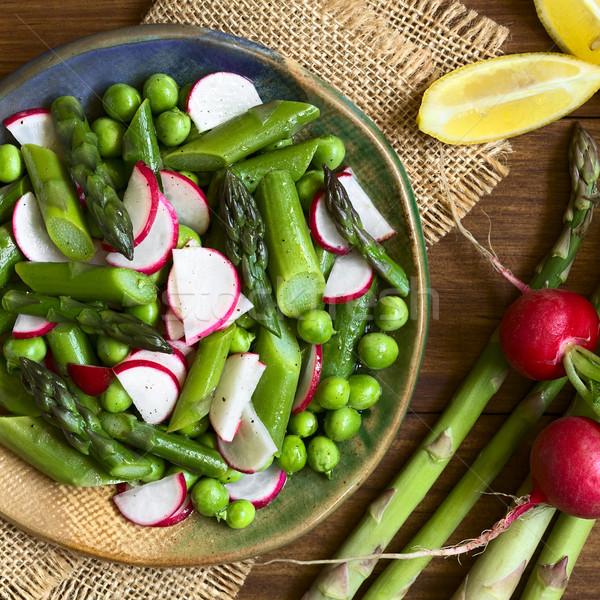 アスパラガス 大根 サラダ 新鮮な 緑 務め ストックフォト © ildi