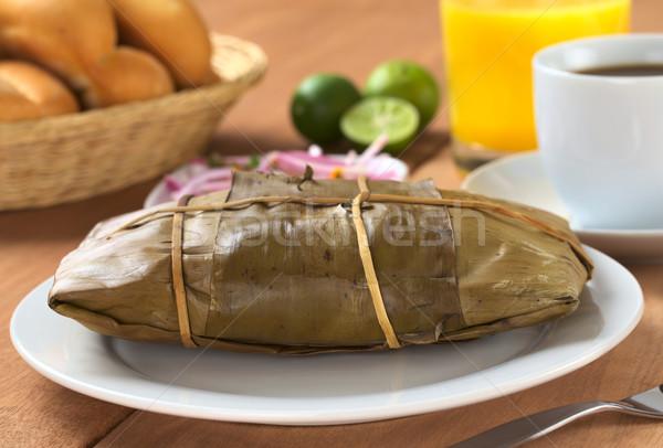 Peruvian Food Called Tamal Stock photo © ildi