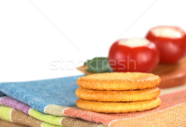 Tuzlu tekstil kırmızı biber geri Stok fotoğraf © ildi