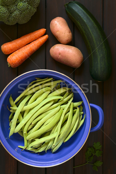 Raw Green Beans and Other Vegetables Stock photo © ildi