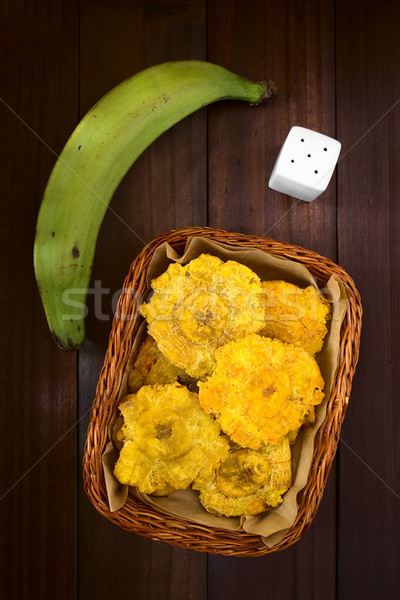 Patacon Fried Plantain Slices Stock photo © ildi