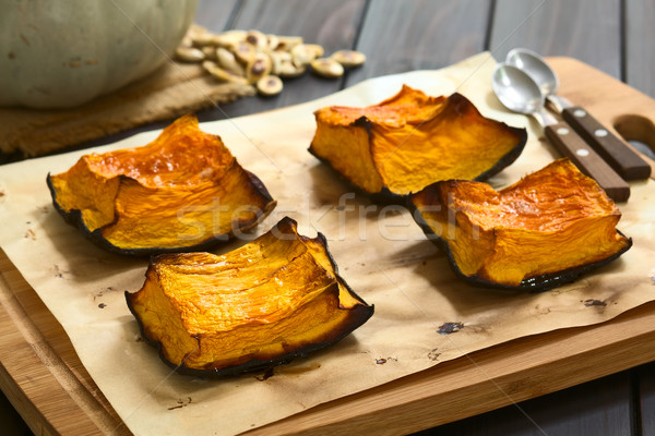 Sweet Baked Pumpkin Pieces Stock photo © ildi