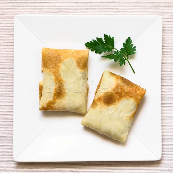 Piegato ripieno santoreggia carne riempimento piatto Foto d'archivio © ildi