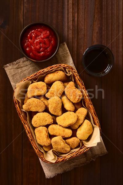 Kurczaka koszyka ketchup napój bezalkoholowy Zdjęcia stock © ildi