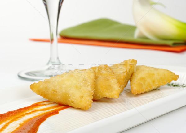 Appetizer: Empanada de Queso de Cabra Stock photo © ildi