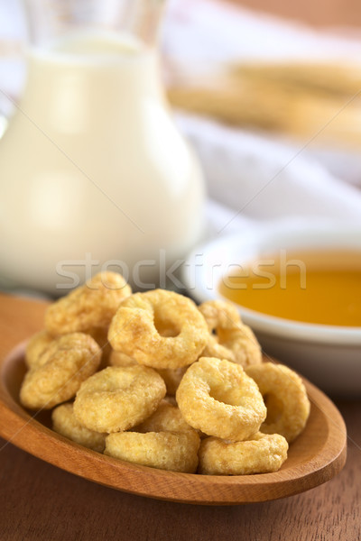 Stock photo: Honey Flavoured Cereal Loops