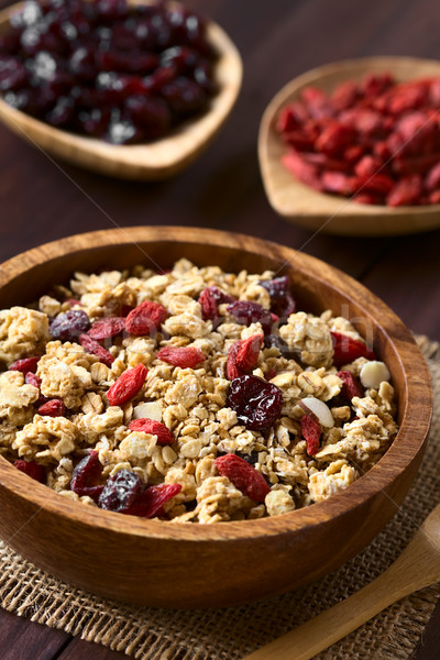 Crunchy Oatmeal Cereal with Almond and Dried Berries Stock photo © ildi