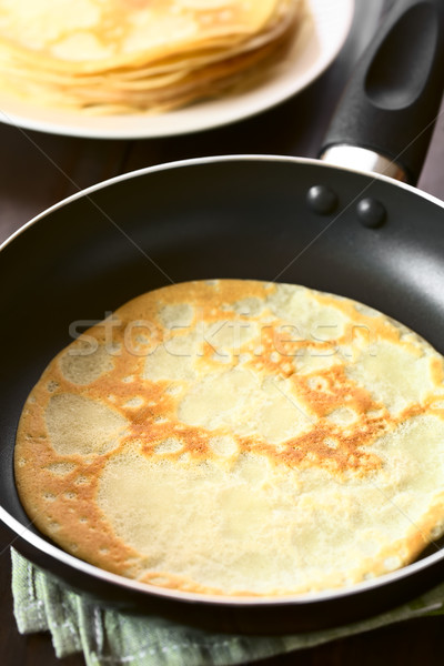 Crepe in Frying Pan Stock photo © ildi