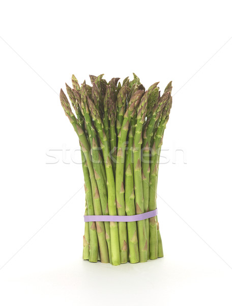 Groene asperges ruw bos samen elastisch Stockfoto © ildi