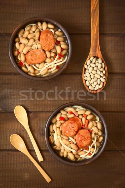 Chilean Dish Called Porotos con Riendas Stock photo © ildi