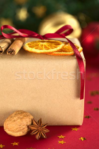 Сток-фото: Рождества · настоящее · украшенный · сушат · оранжевый · Ломтики