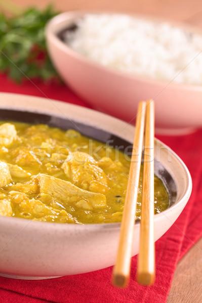 Stock photo: Chicken-Mango Curry
