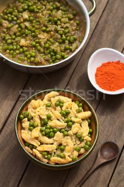 Húngaro ensopado vegetariano páprica servido caseiro Foto stock © ildi