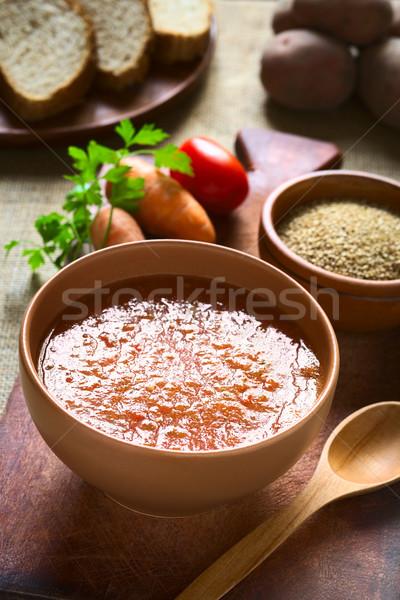Cream of Vegetable Soup Stock photo © ildi