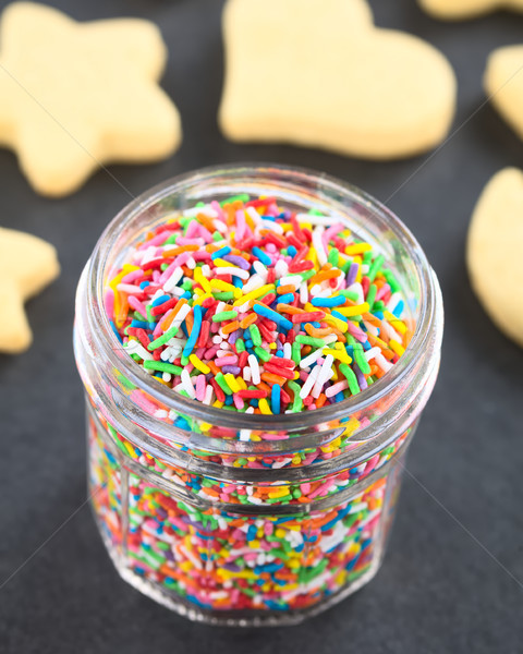 Stock photo: Colorful Sugar Sprinkles