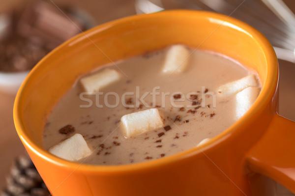 Stock fotó: Forró · csokoládé · narancs · csésze · szelektív · fókusz · fókusz · étel