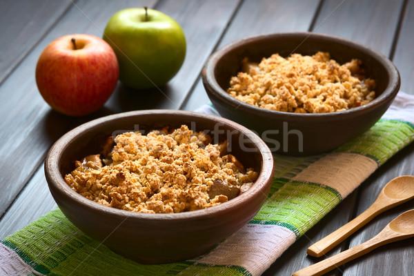 Gebakken appel twee rustiek kommen keuken Stockfoto © ildi