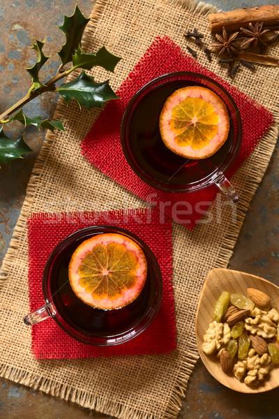 долька апельсина Top стекла специи Сток-фото © ildi