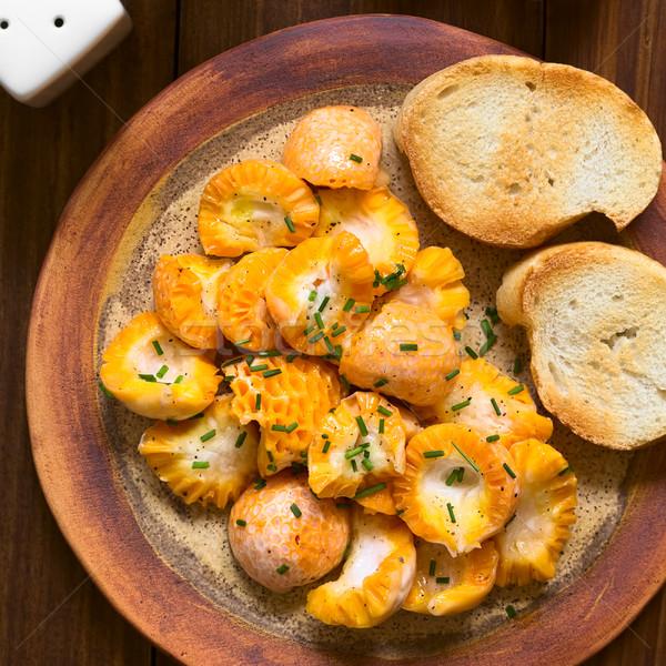 Grzyby Sałatka świeże jadalny cytryny soku Zdjęcia stock © ildi