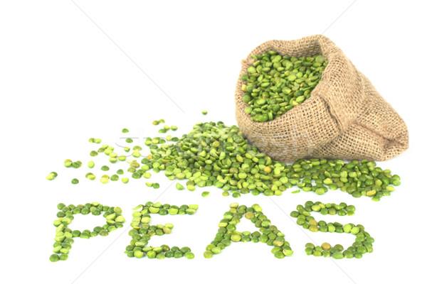 Split Dried Green Peas Stock photo © ildi