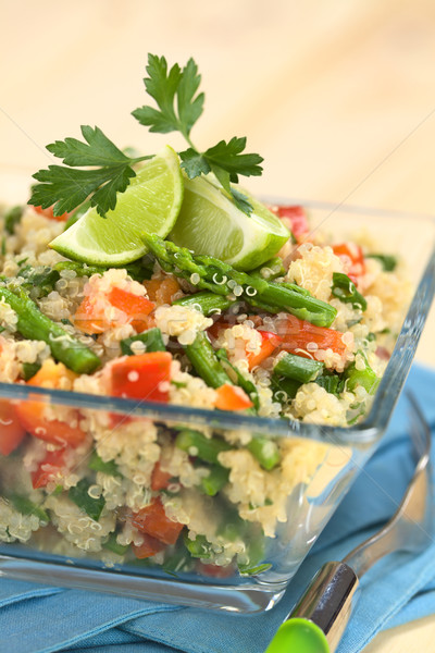 Quinoa with Asparagus and Bell Pepper  Stock photo © ildi
