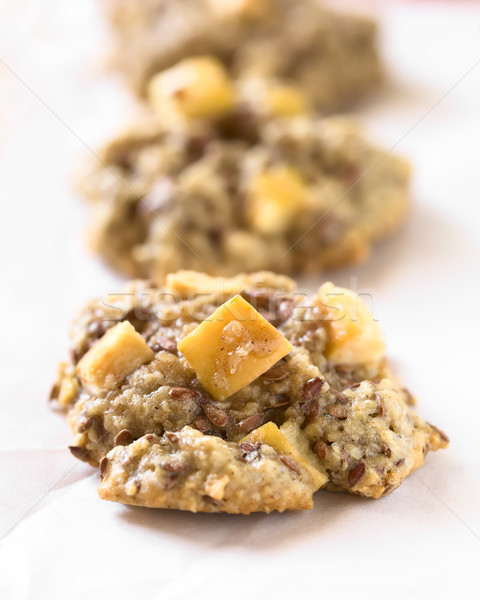 Apple, Oatmeal and Linseed Cookies Stock photo © ildi