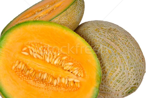 Cantaloup Melon and Halves Stock photo © ildi