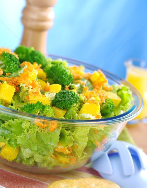 Broccoli-Mango-Carrot-Lettuce Salad Stock photo © ildi