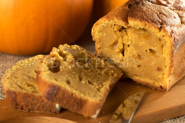 Fresh Baked Pumpkin Bread Stock photo © ildi