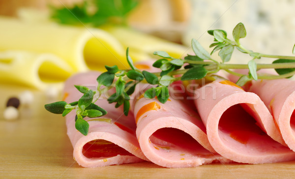 Cold Cut with Thyme Stock photo © ildi