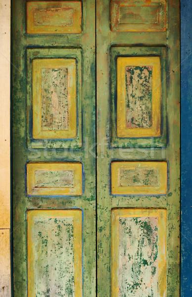Old Wooden Door Stock photo © ildi