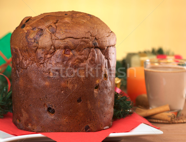 Panettone, a Traditional Christmas Cake Stock photo © ildi