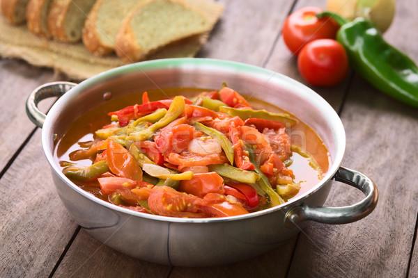 Húngaro tradicional prato vegetariano ensopado cebola Foto stock © ildi