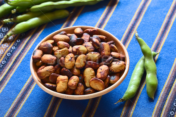 Roasted Broad Beans Stock photo © ildi