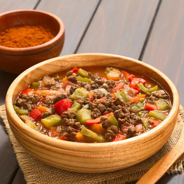 Vegan Goulash with Soy Meat Stock photo © ildi