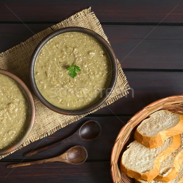 кремом суп деревенский чаши Сток-фото © ildi