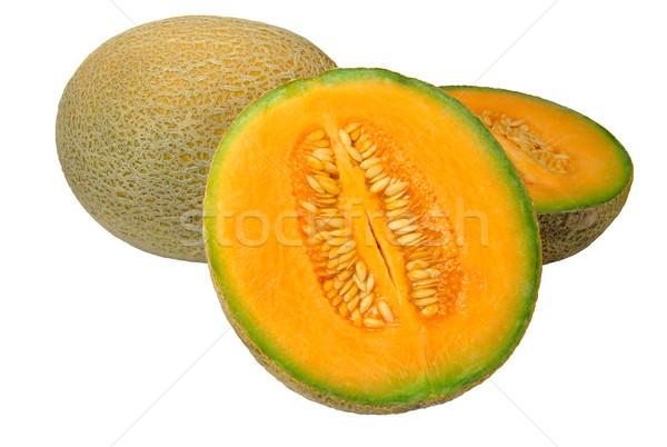 Melon deux une intacts alimentaire nature Photo stock © ildi