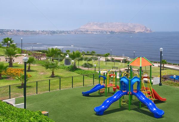 Playground in Park in Lima, Peru Stock photo © ildi