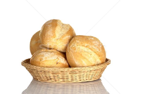 Buns in Bread Basket Stock photo © ildi