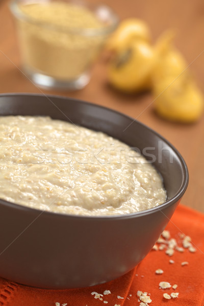 Cooked Oatmeal Porridge with Maca Powder Stock photo © ildi