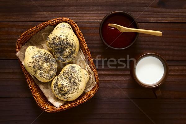 自家製 ケシ シード パン ジャム ストックフォト © ildi
