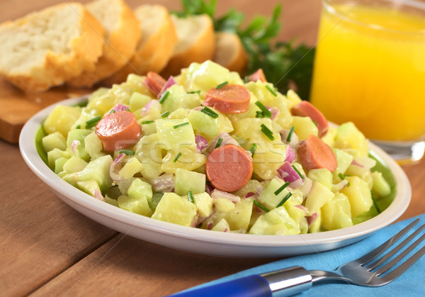 Potato Salad with Sausage Stock photo © ildi