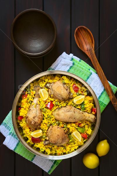 Stock photo: Spanish Chicken Paella