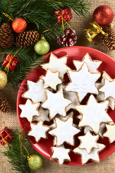 German Zimtsterne Christmas Cookies Stock photo © ildi
