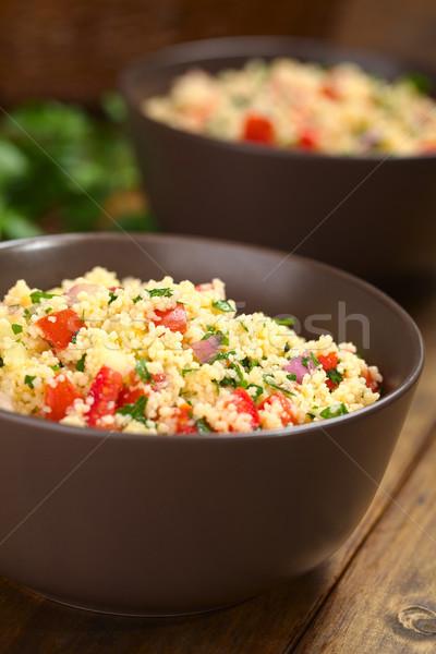 Fresh Homemade Tabbouleh, an Arabian Salad with Couscous Stock photo © ildi